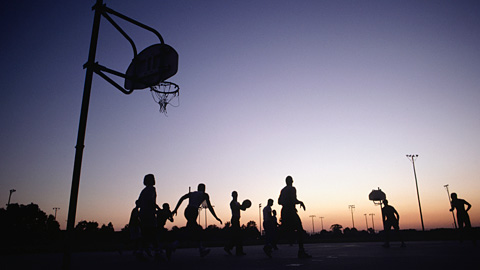 Basketball at Dusk